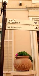Street Sign in Monaco