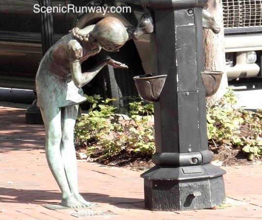 Horse Drinking Fountain Sculpture
